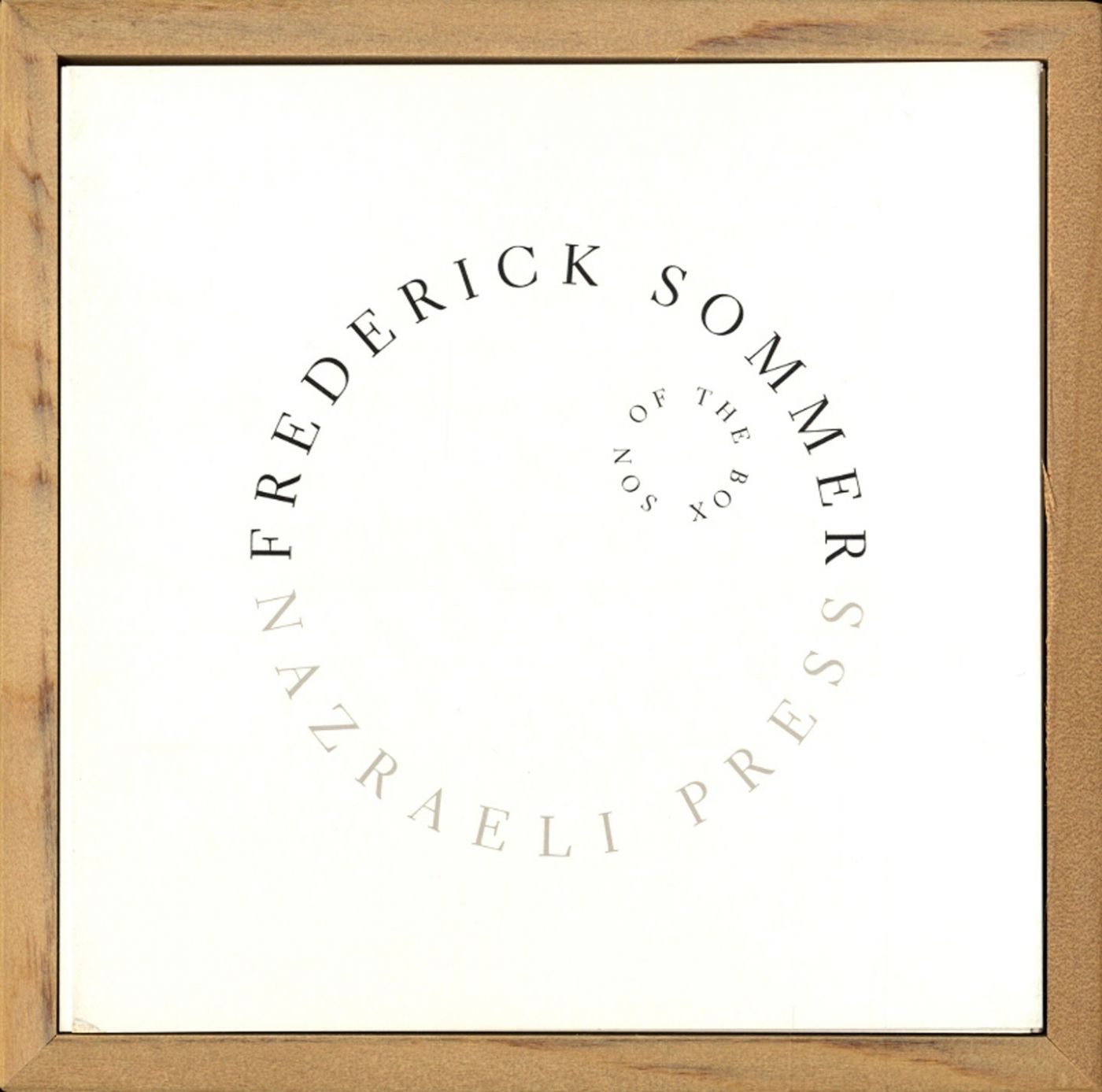 Frederick Sommer: Son of The Box, Limited Edition