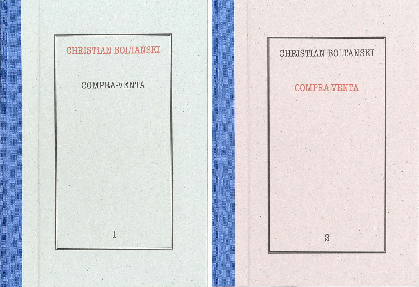 Christian Boltanski: Compra-Venta (Buy-Sell) (Two Volumes Slipcased)