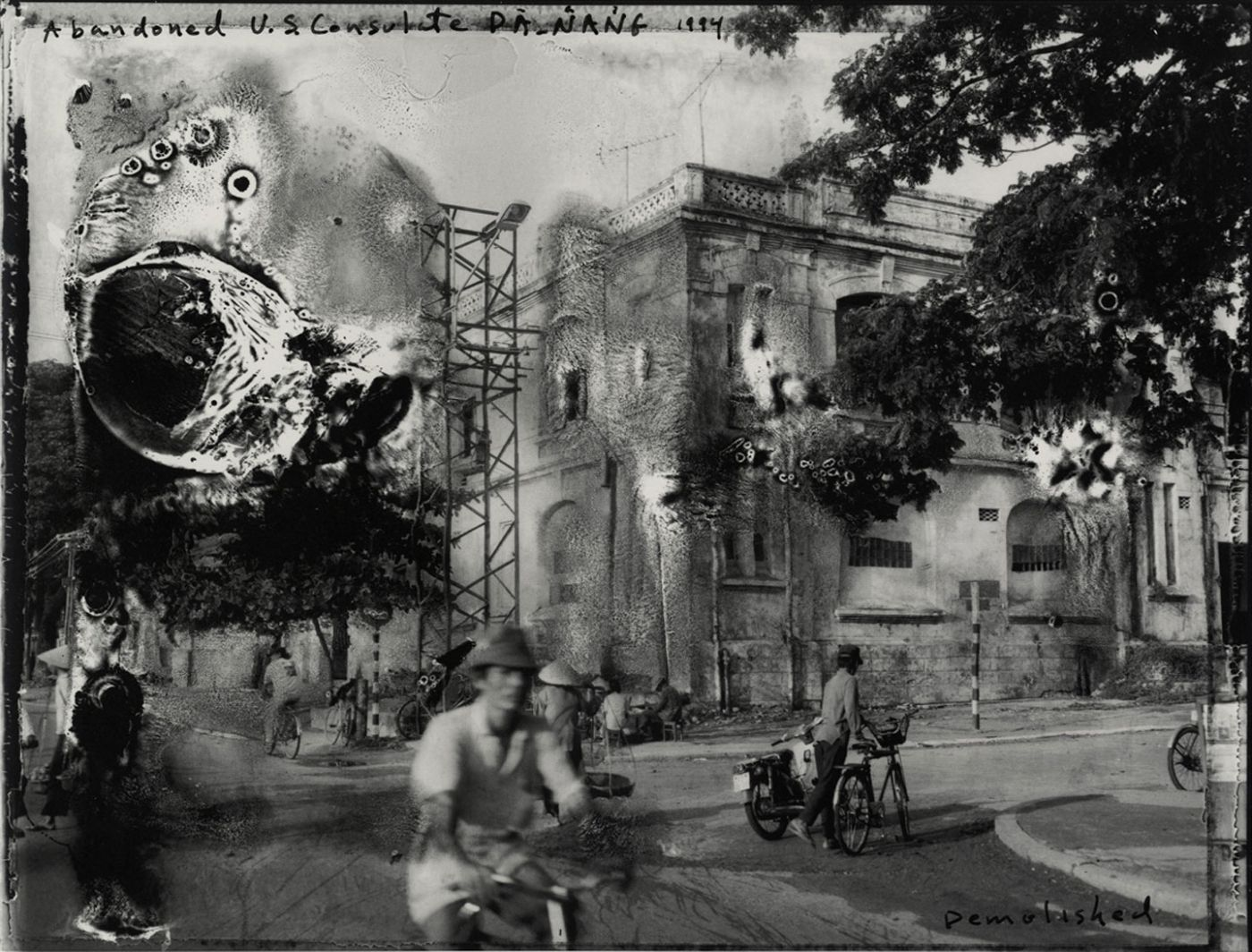 """Bill Burke: """"Abandoned U.S. Consulate, Danang (Demolished 1999), 1994,"""" Limited Edition Gelatin Silver Print (20x24"""" from an edition of 20)"""