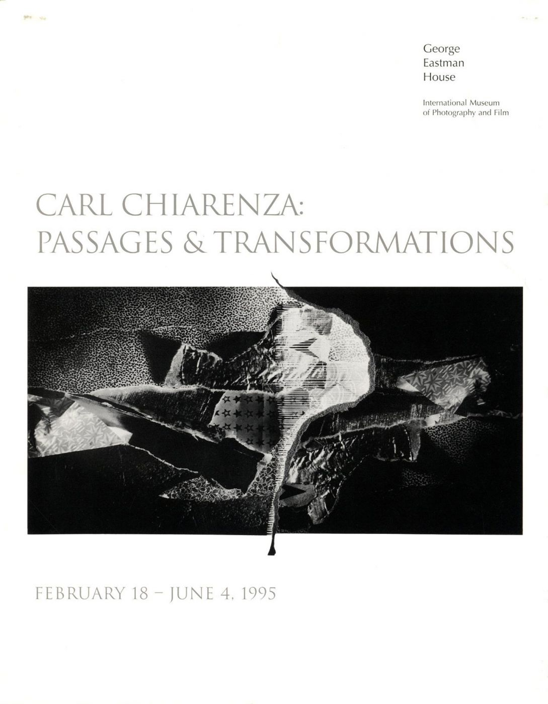 Carl Chiarenza: Passages and Transformations (Exhibition Brochure) [SIGNED ASSOCIATION COPY]