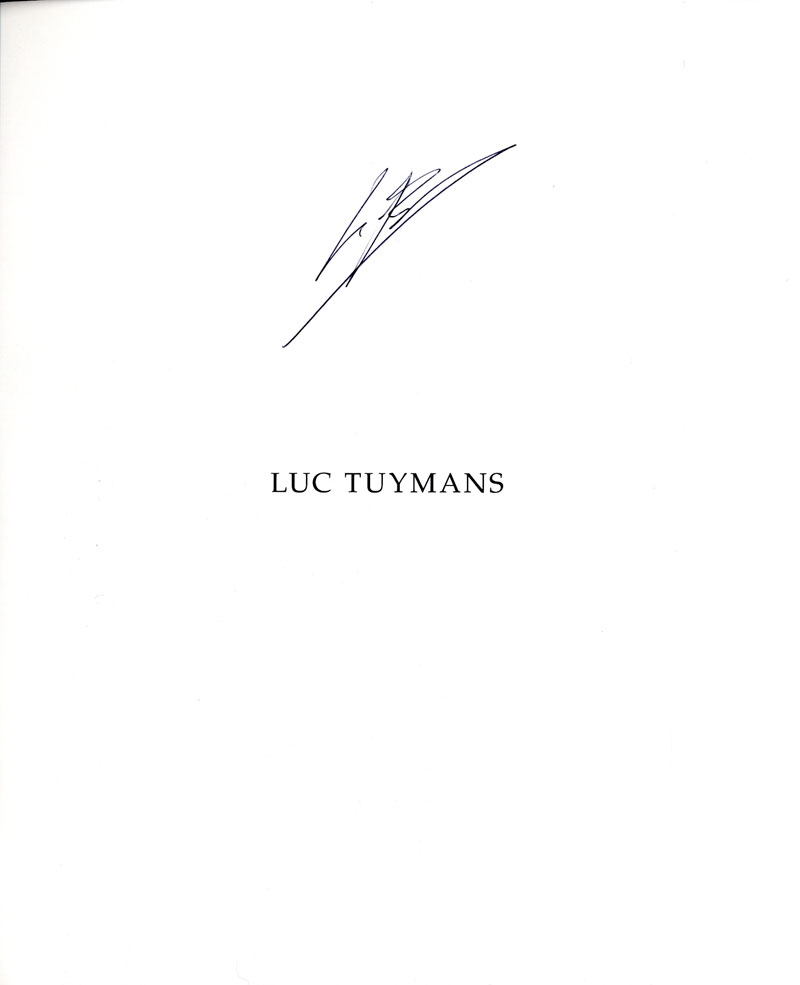 Luc Tuymans (San Francisco Museum of Modern Art & Wexner Center for the Arts) [SIGNED]
