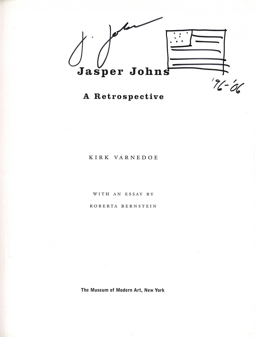 Jasper Johns: A Retrospective (Second edition) [SIGNED with drawing]