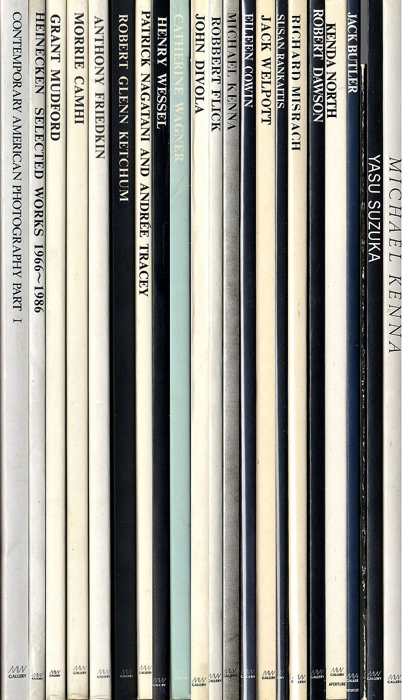 Gallery Min - Set of 22 Catalogues [most volumes SIGNED, including several ASSOCIATION COPIES; Contemporary American Photography, Part I SIGNED by all 24 of the participating artists]