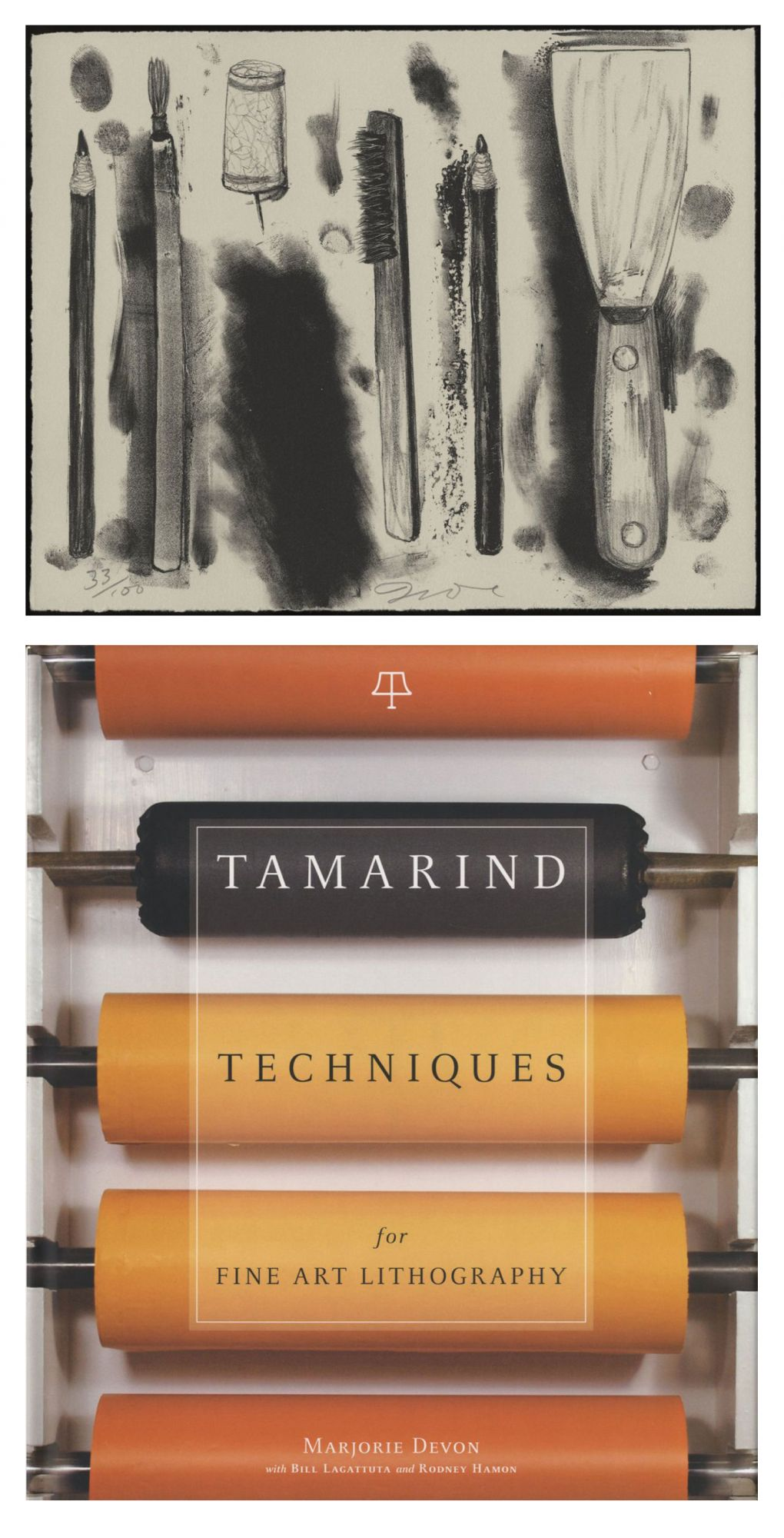 Tamarind Techniques for Fine Art Lithography, Limited Edition (with Lithograph by Jim Dine)