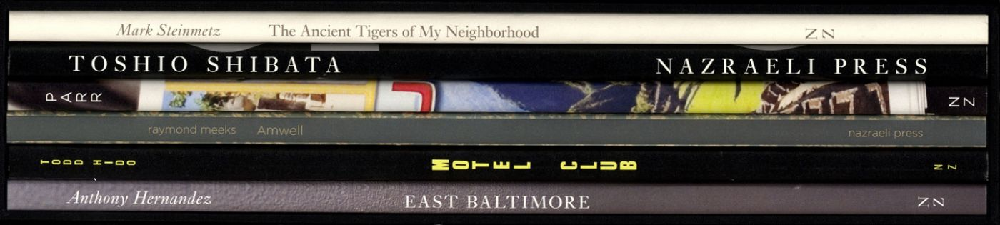 Nazraeli Press Six by Six (6 x 6) Subscription Series: Set 1 (of 6), Limited Edition (with 6 Prints): Anthony Hernandez: East Baltimore; Todd Hido: Motel Club; Raymond Meeks: Amwell; Martin Parr: Machu Picchu; Toshio Shibata: Expressway, 1986; Mark Steinmetz: The Ancient Tigers of My Neighborhood