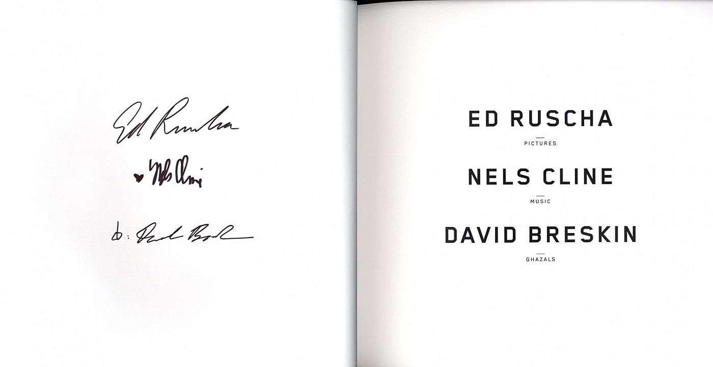 Ed Ruscha, Nels Cline and David Breskin: Dirty Baby [SIGNED by Ruscha, Cline and Breskin]