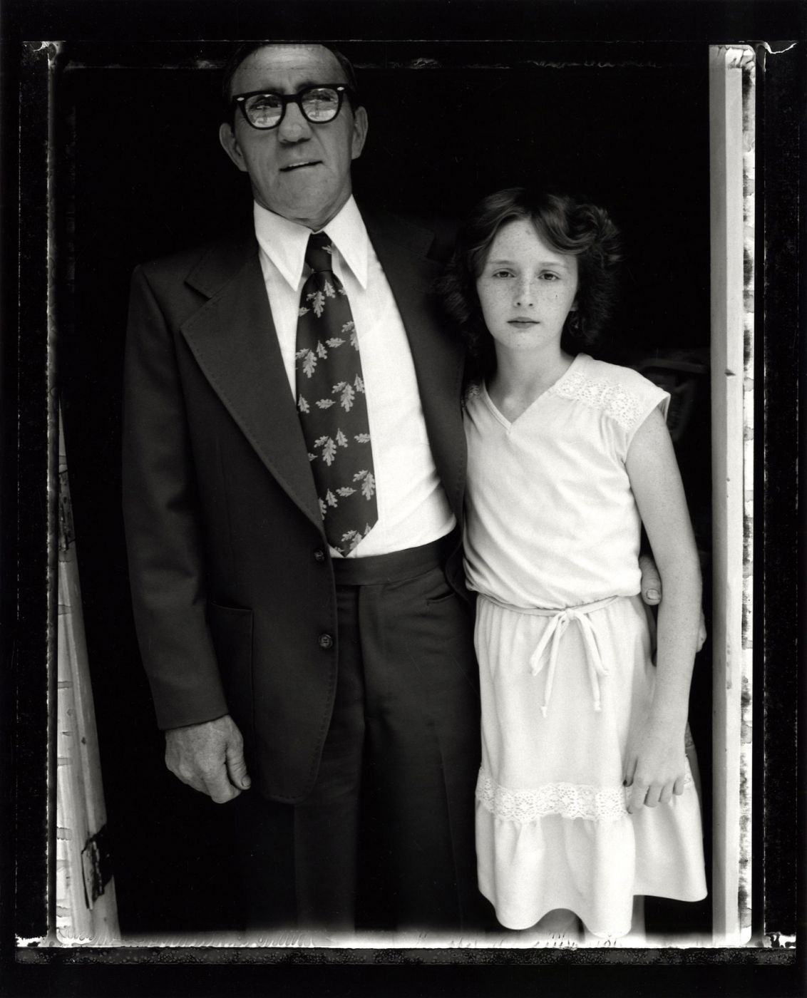 "Bill Burke: ""Reverend Robert Elkins and Niece, Church in Jesus Name, Jolo, West Virginia, 1979,"" Limited Edition Gelatin Silver Print (Open Edition; Print Size 16x20"")"