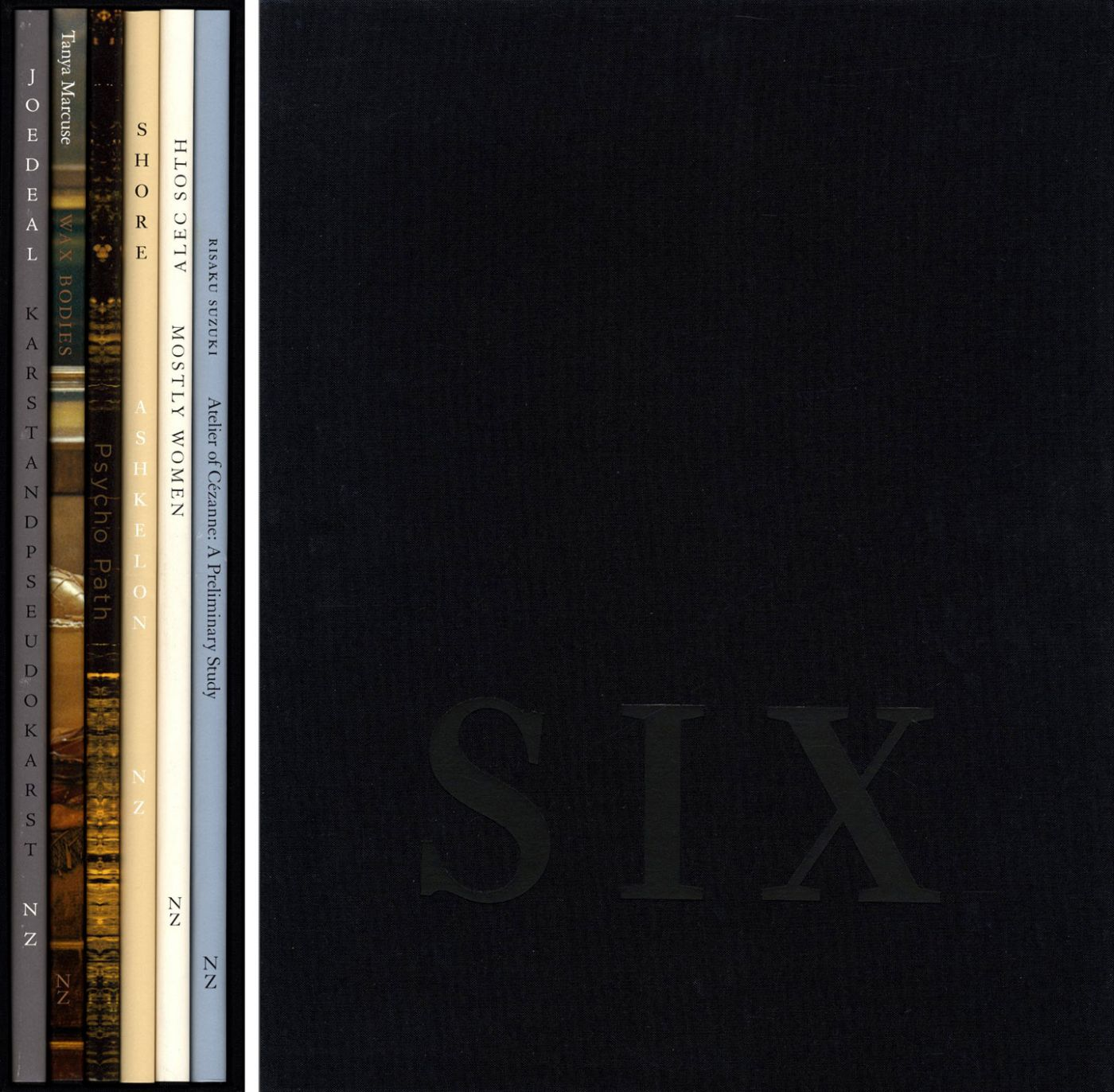 Nazraeli Press Six by Six (6 x 6) Subscription Series: Set 2 (of 6), Limited Edition (with 7 Prints): Joe Deal: Karst and Pseudokarst; Tanya Marcuse: Wax Bodies; Joe Mills: Psycho Path; Stephen Shore: Askelon; Alec Soth: Mostly Women; Risaku Suzuki: Atelier of Cézanne
