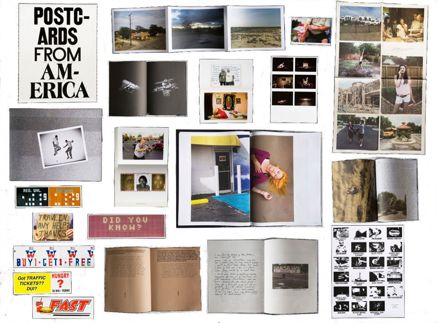 Postcards from America: Jim Goldberg, Susan Meiselas, Paolo Pellegrin, Alec Soth, Mikhael Subotzky and Ginger Strand, Limited Edition [SIGNED by all Contributors]