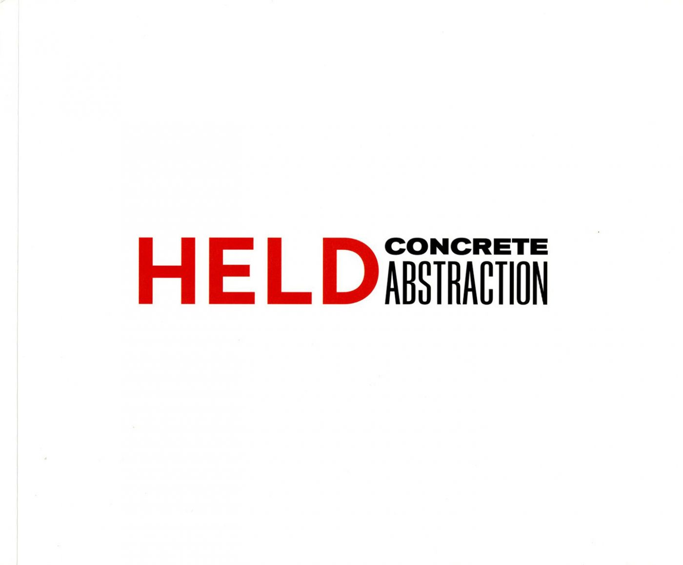 Al Held: Concrete Abstraction
