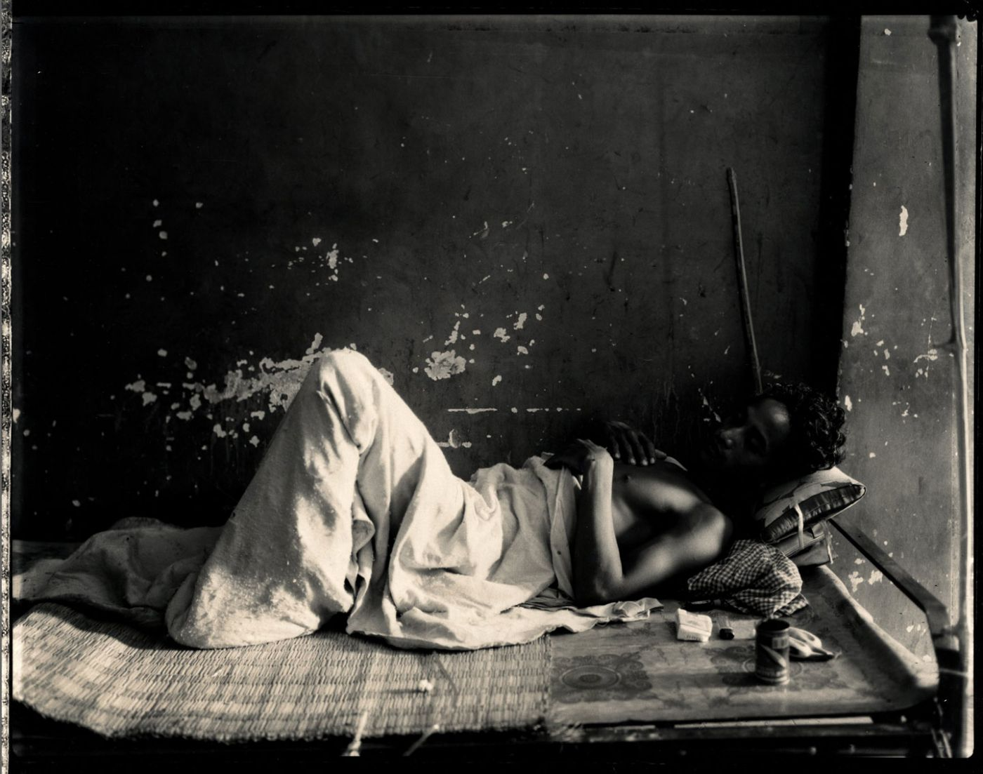 "Bill Burke: ""Military Hospital, Phnom Penh, 1995,"" Limited Edition Toned Gelatin Silver Print (16x20"" from an edition of 25)"