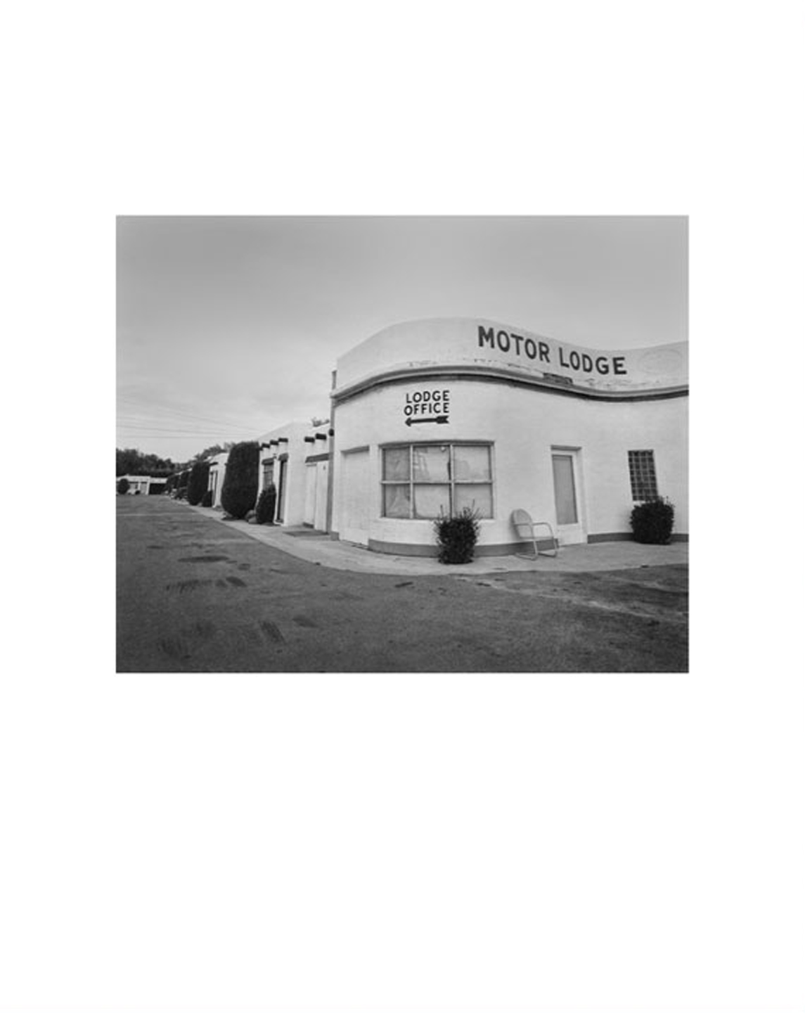 "NZ Library #1: John Schott: Route 66, Special Limited Edition (with Gelatin Silver Contact Print ""Untitled"" from the Series ""Route 66 Motels,"" El Pueblo Court Motel Office with Pay Telephone) (NZ Library - Set One, Volume Six)"