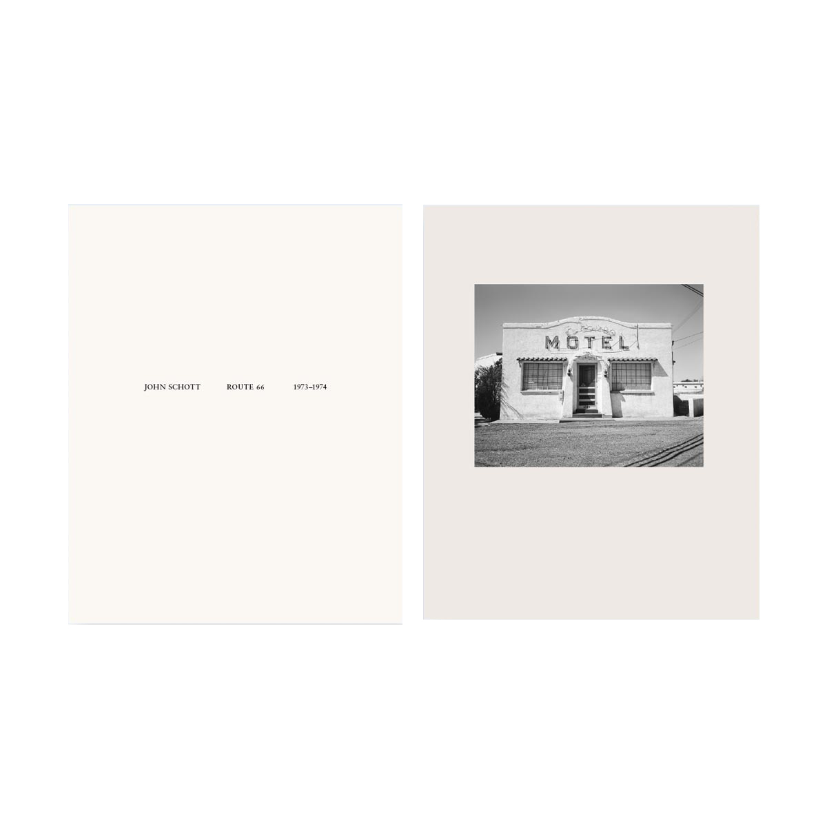 "NZ Library #1: John Schott: Route 66, Special Limited Edition (with Gelatin Silver Contact Print ""Untitled"" from the Series ""Route 66 Motels,"" El Pueblo Court Motel with Neon Vacancy Sign) (NZ Library - Set One, Volume Six)"