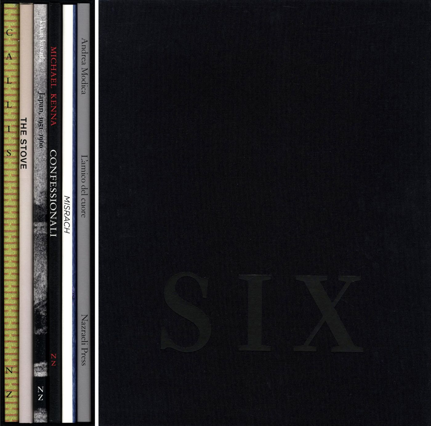 Nazraeli Press Six by Six (6 x 6) Subscription Series: Set 5 (of 6), Limited Edition (with 6 Prints): Jo Ann Callis: Performance; Thomas Demand: The Stove; Kikuji Kawada: Japan 1951-1960; Michael Kenna: Confessionali; Richard Misrach: Misrach (Swimmers); Andrea Modica: L'amico del cuore
