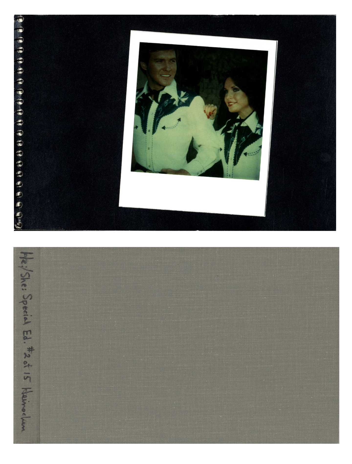 Robert Heinecken: He:/She:, Slipcased Limited Edition (with 10 Polaroid SX-70 Prints) [SIGNED]