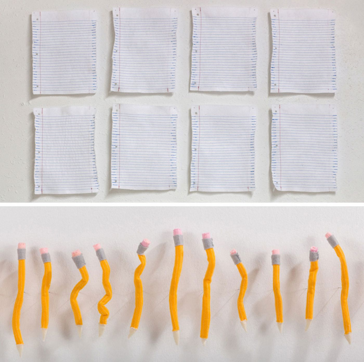 Tamara Wilson: Notebook Paper Study and Pencil Set (Felt and Thread), Limited Edition (Open)
