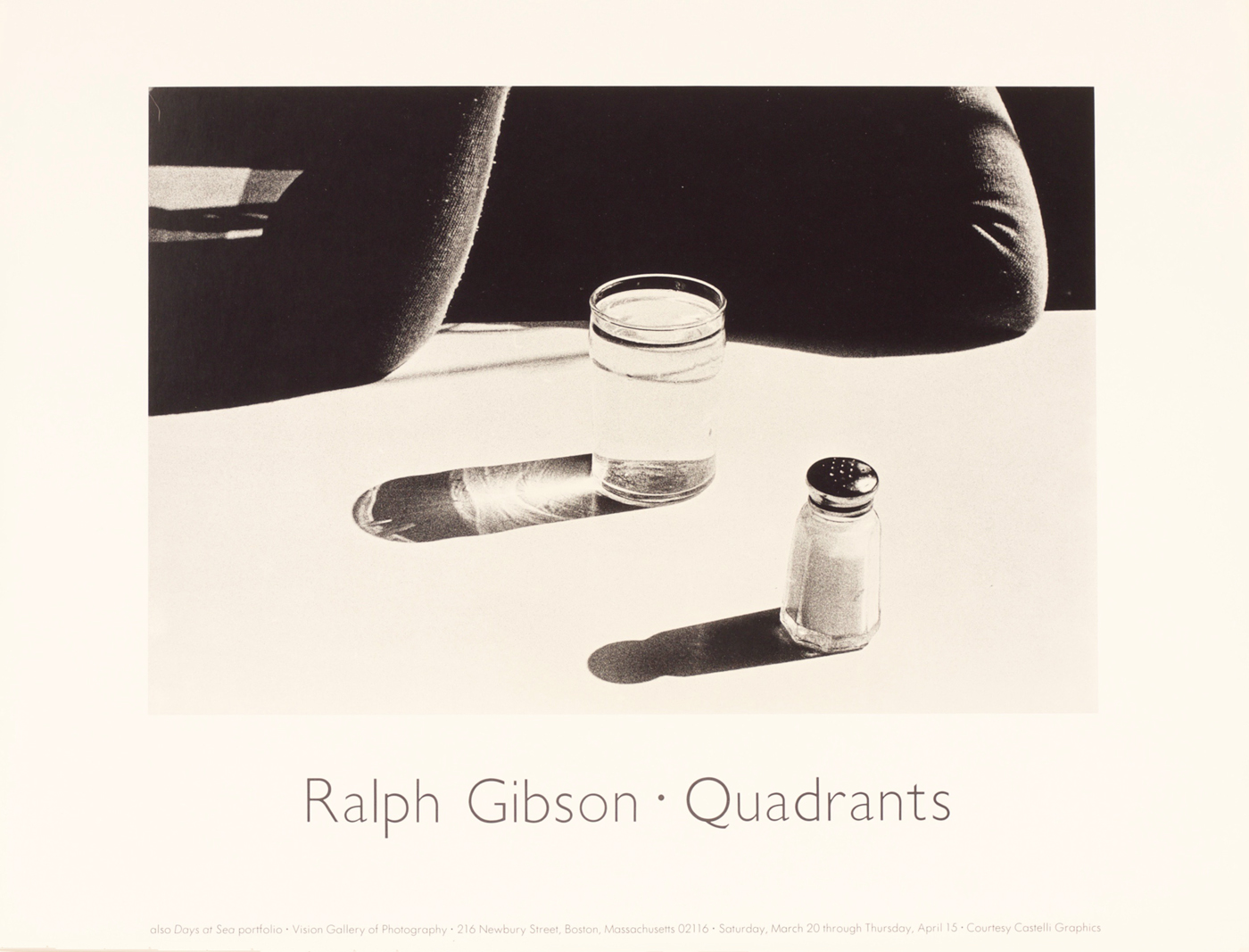 Ralph Gibson Quadrants Vision Gallery Of Photography Exhibition Poster