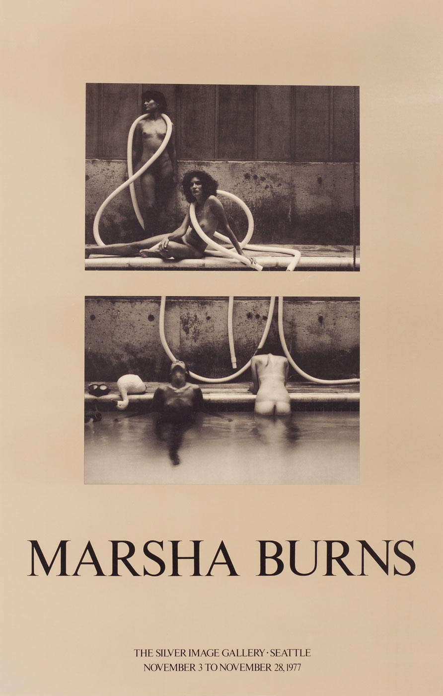 Marsha Burns: Silver Image Gallery Exhibition Poster (White Snow Goose Sequence, 1976)