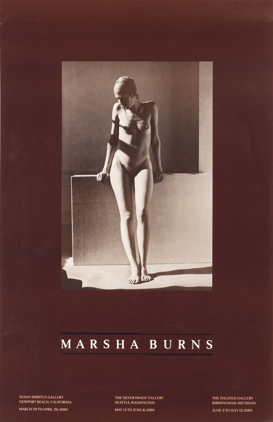 Marsha Burns: Exhibition Poster (Untitled, August 1978)