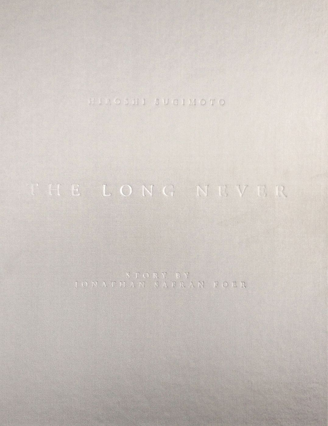 """Hiroshi Sugimoto: The Long Never, Deluxe Limited Collector's Edition of 25 (with Gelatin Silver Print, """"Lightning Fields 289"""")"""