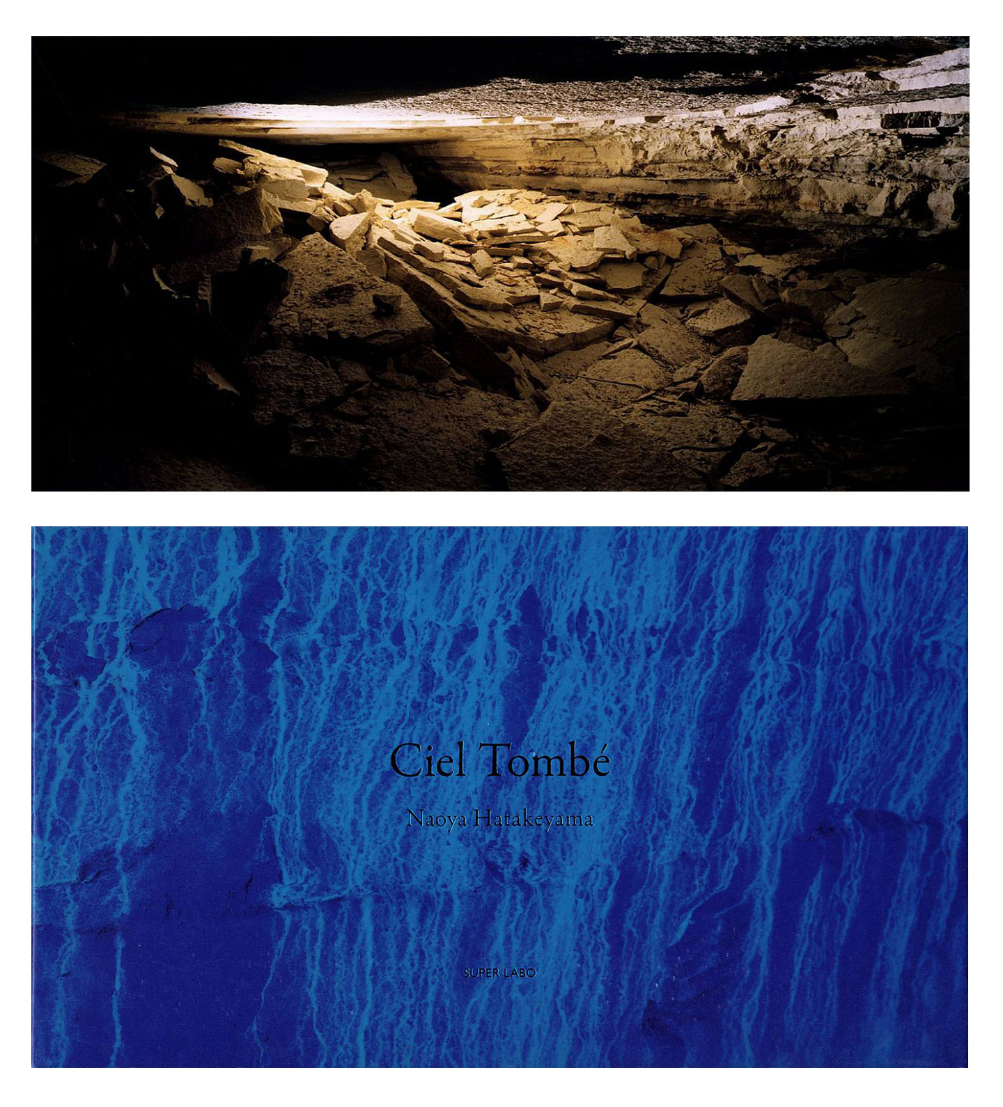 """Naoya Hatakeyama: Ciel Tombé, Limited Boxed Edition (with """"Quarry"""" Print), and a copy of The Astrologer, by Sylvie Germain"""
