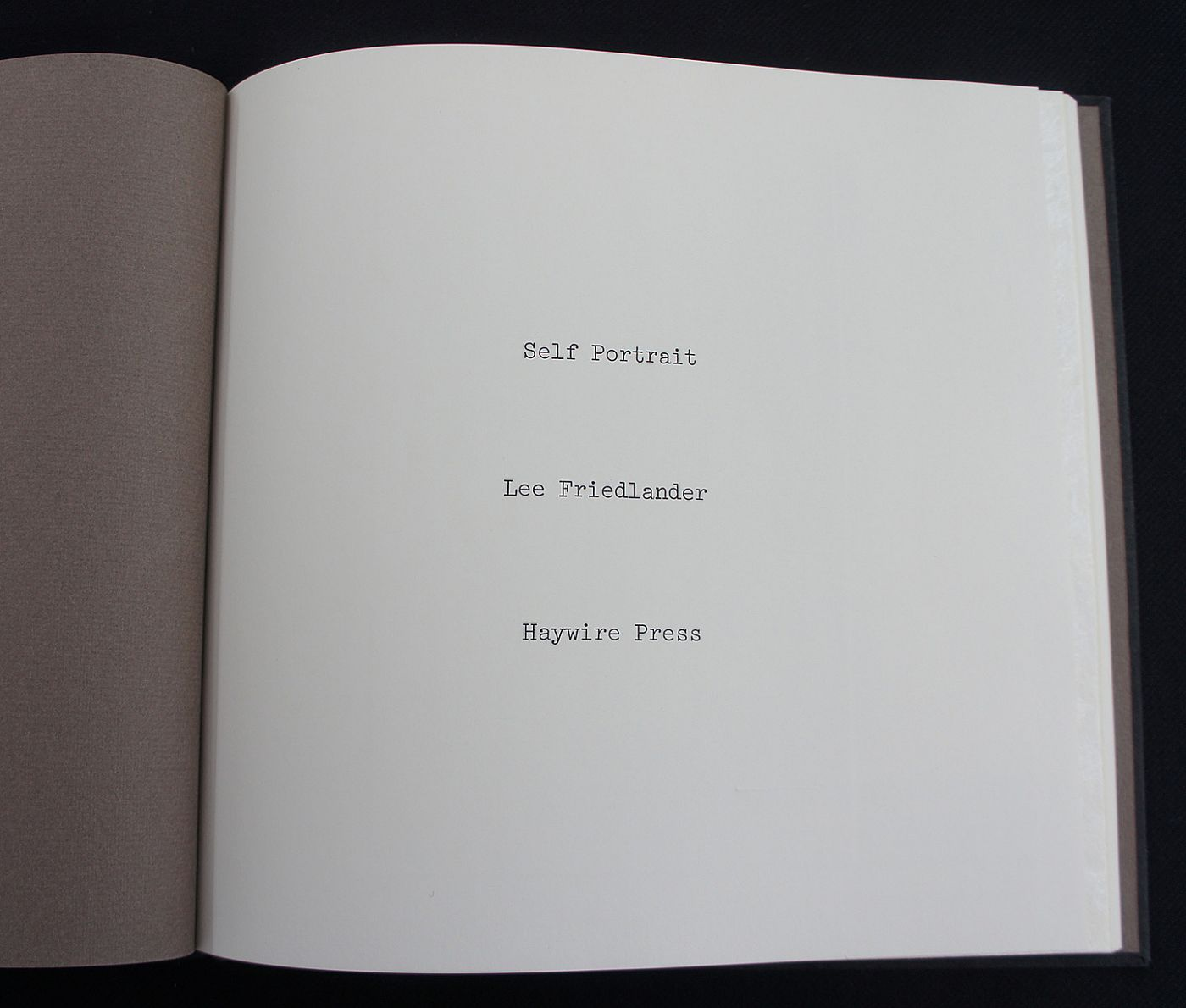 Self Portrait: Photographs by Lee Friedlander (Special Limited Edition with Two Vintage Gelatin Silver Prints)