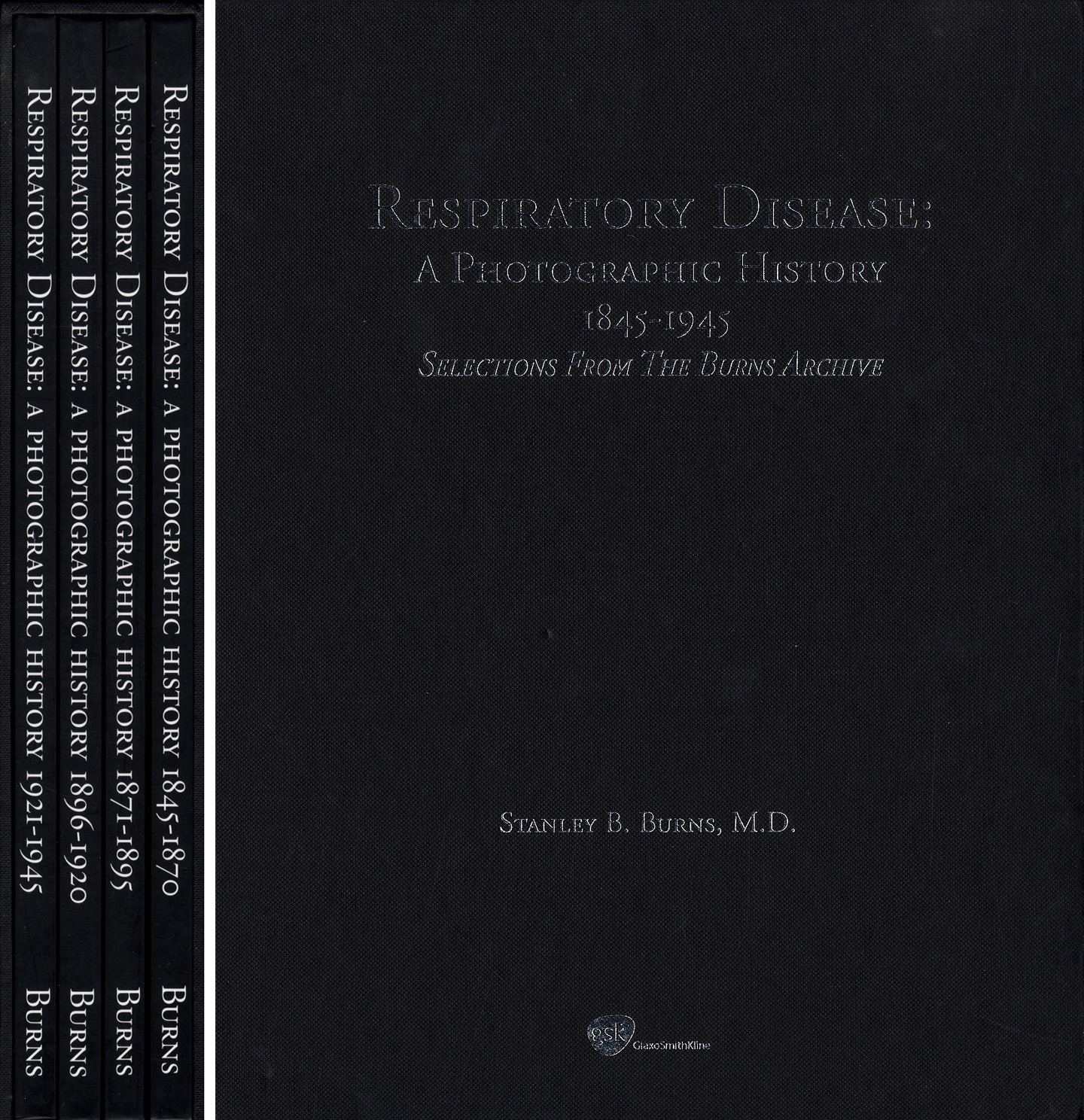 Burns Archive: Respiratory Disease: A Photographic History, 1845-1945, Selections form the Burns Archive, Special Cased Limited Edition Set of Four Books (First Edition) [SIGNED]