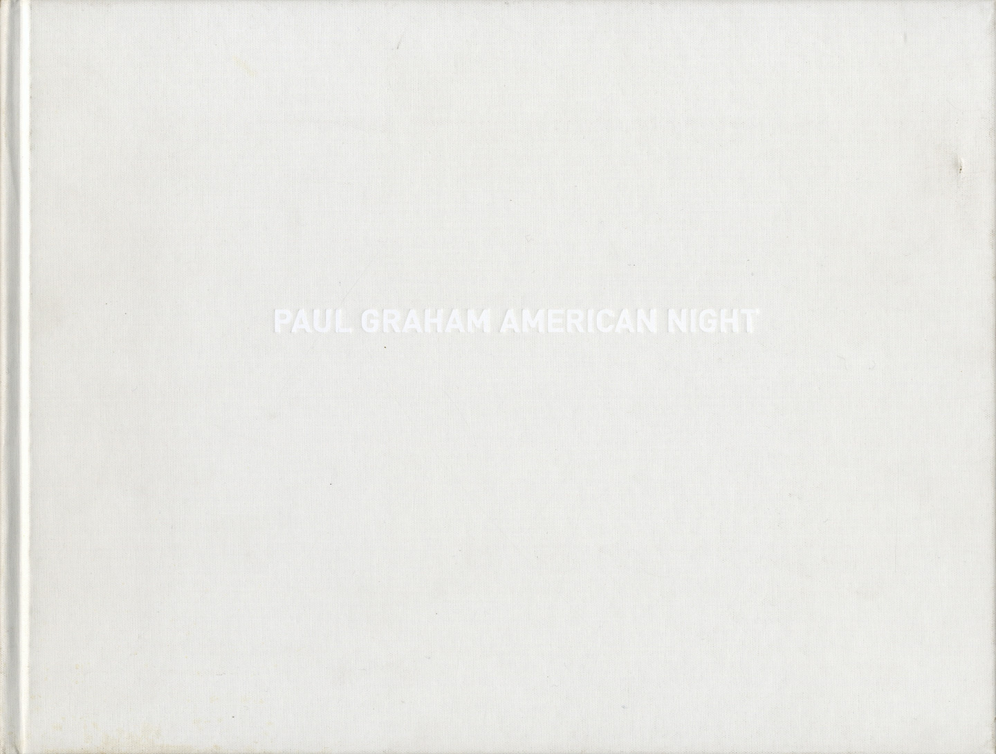 Paul Graham: American Night [SIGNED]