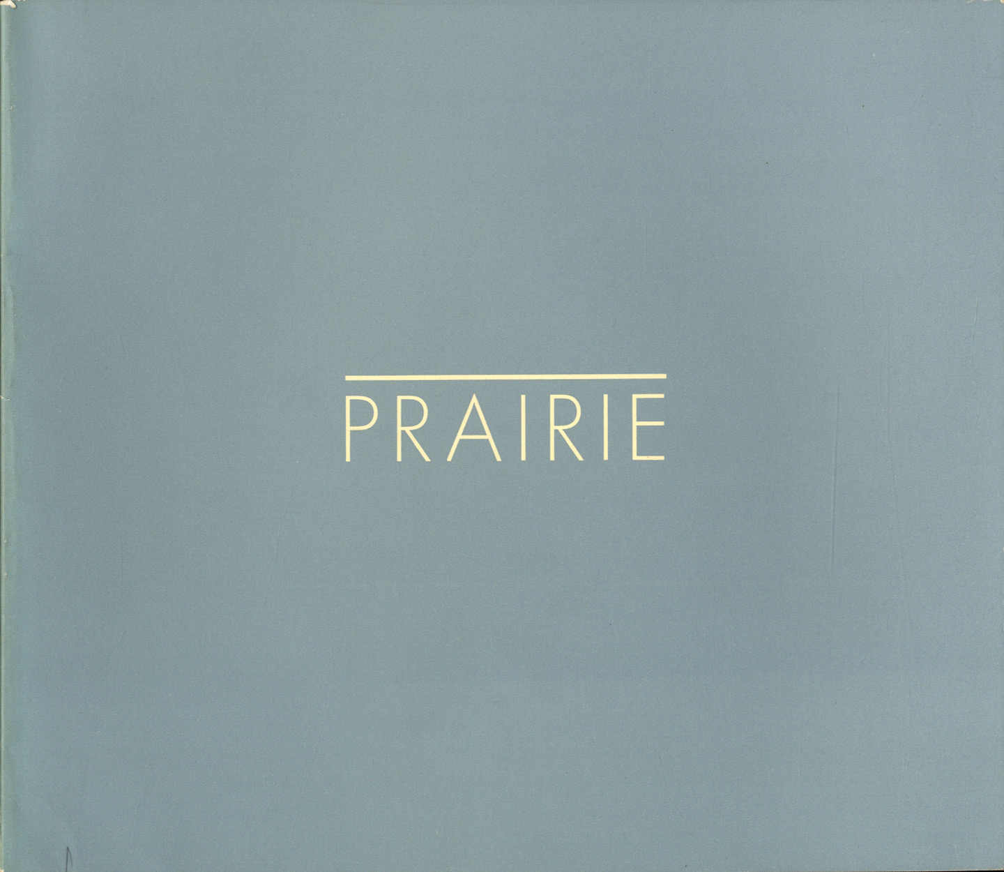 Robert Adams: Prairie (First Edition)