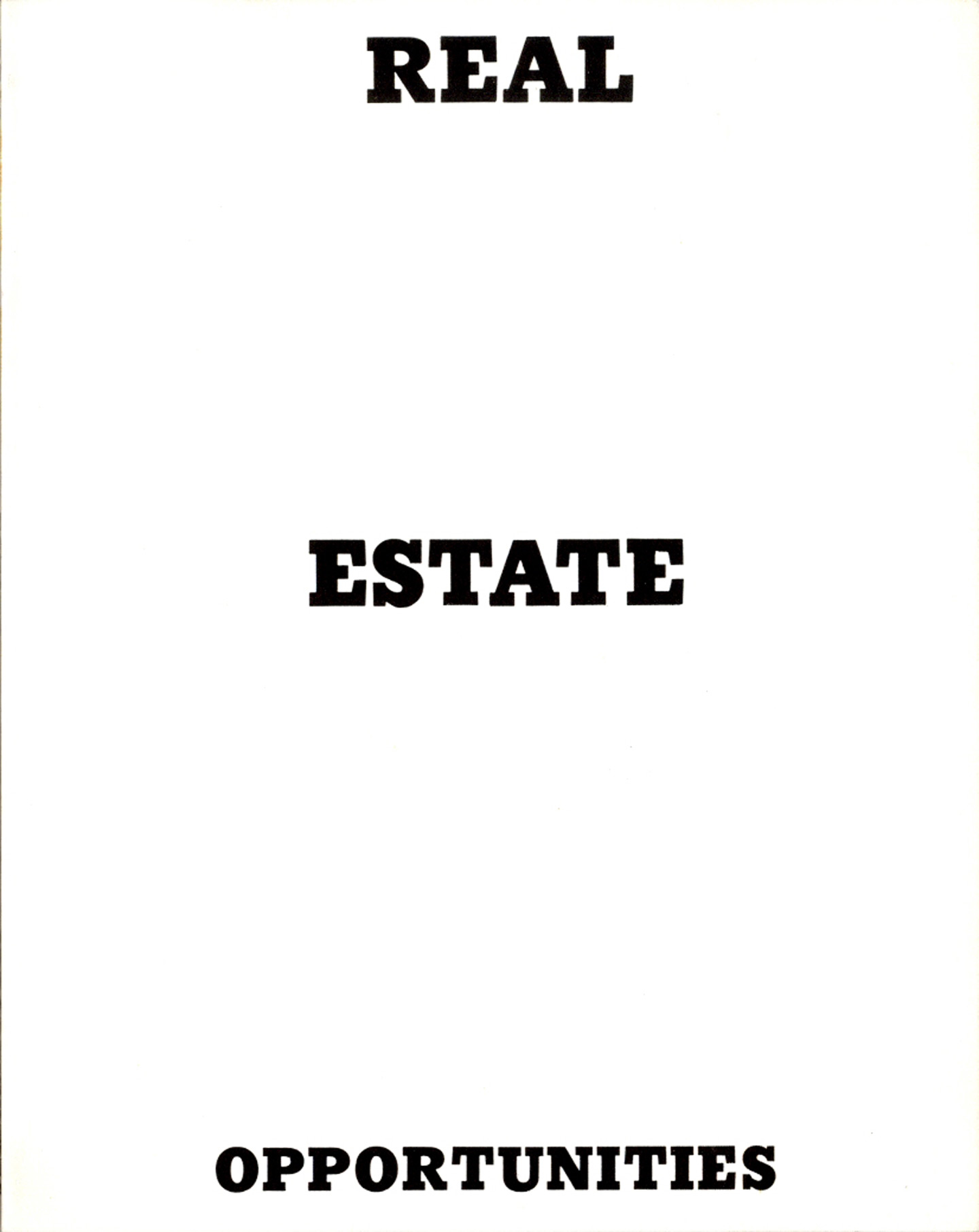 Ed Ruscha: Real Estate Opportunities