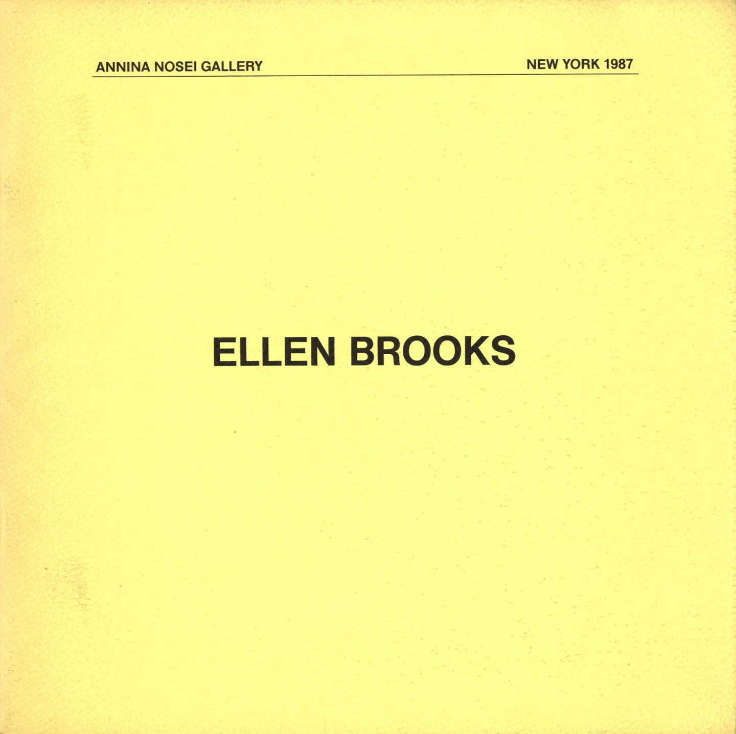 Ellen Brooks (Annina Nosei Gallery)
