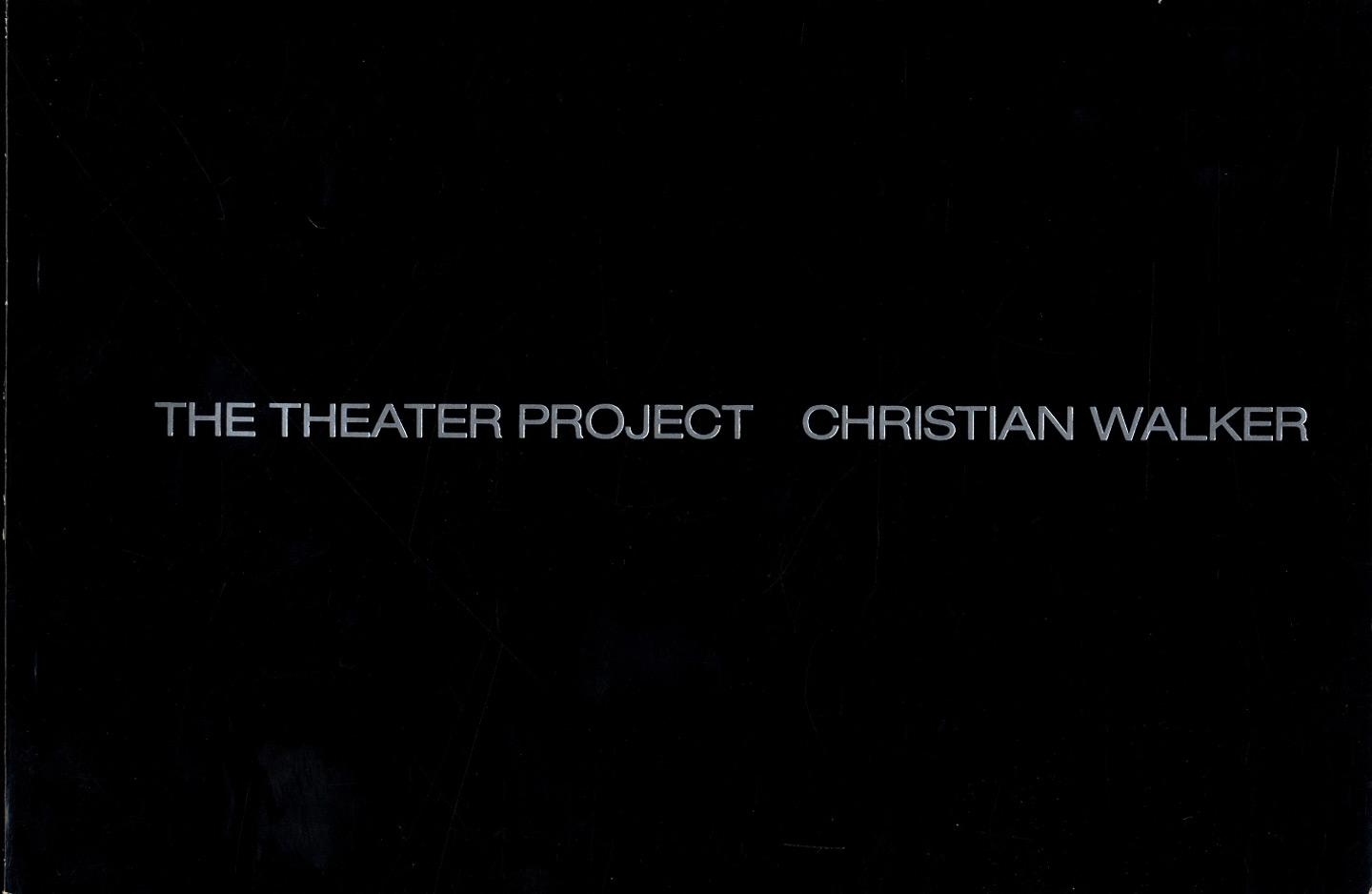 Christian Walker: The Theater Project (Includes 2 Additional Group Exhibition Catalogues)
