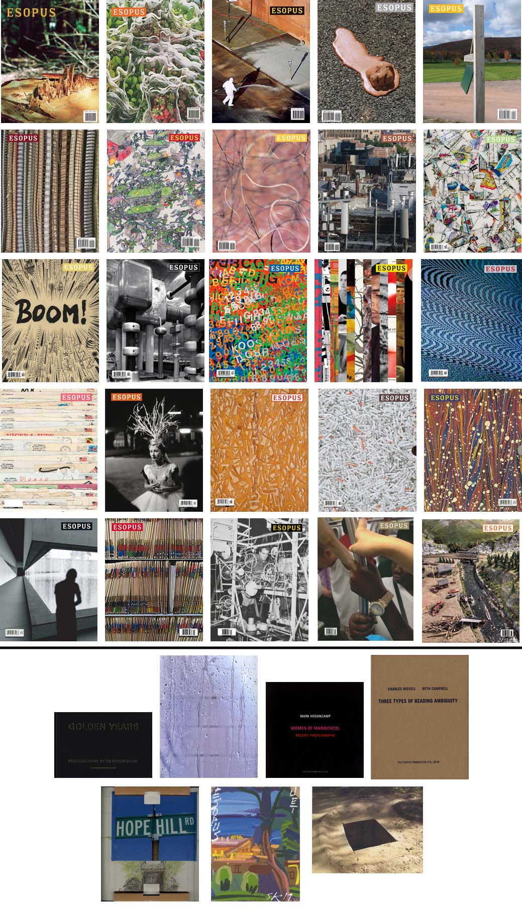 Esopus 1-23 (Complete Collection, including 5 Limited Edition artworks).