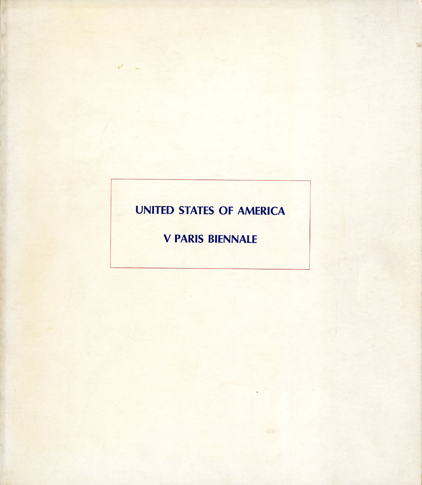 United States of America: V Paris Biennale (1967 Exhibition Catalogue)