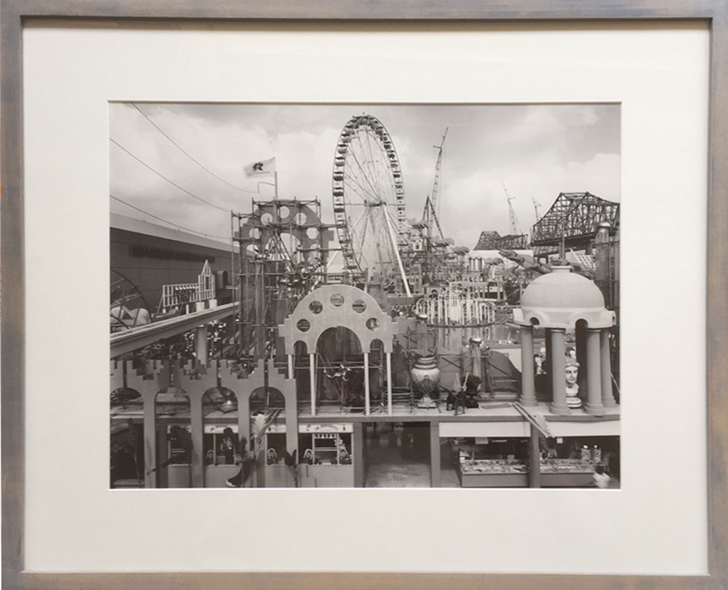 "Catherine Wagner: ""Louisiana World Exposition, Wonderwall, New Orleans, 1984,"" Limited Edition Vintage Gelatin Silver Print (Framed)"