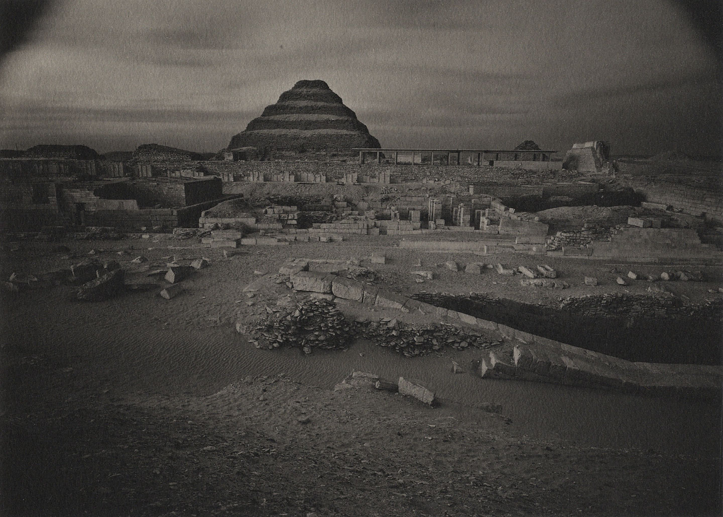 "Kenro Izu: ""Pyramid of Sakkura, Egypt, 1985,"" Limited Edition (Platinum Print)"