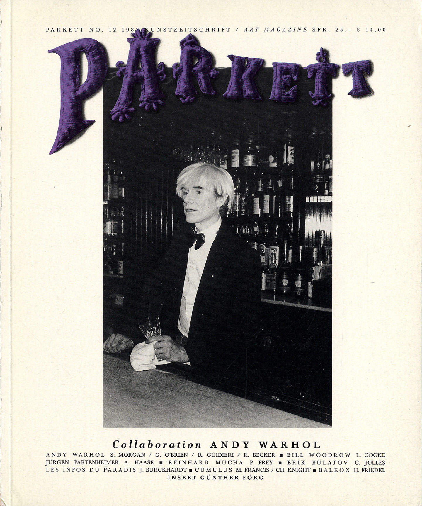 collaboration andy warhol parkett no 12 parkett art magazine no 12 1987