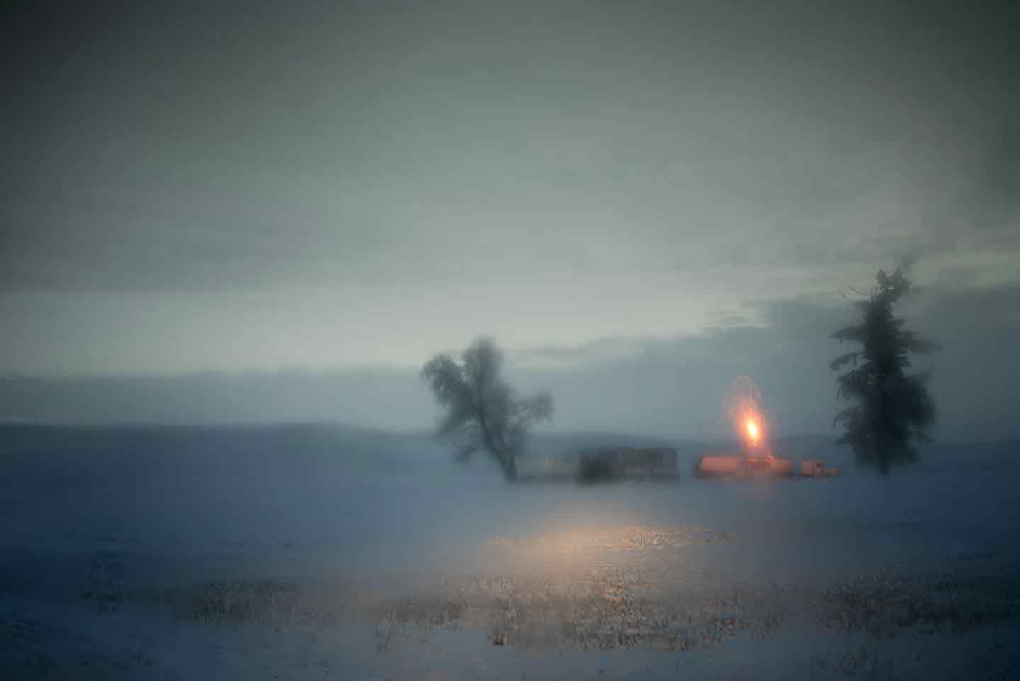 "Todd Hido: #11176-7589, 2014, ed. #2/12 (11-1/2x17-inch Original Archival Pigment Print from ""Bright Black World"" Series)"