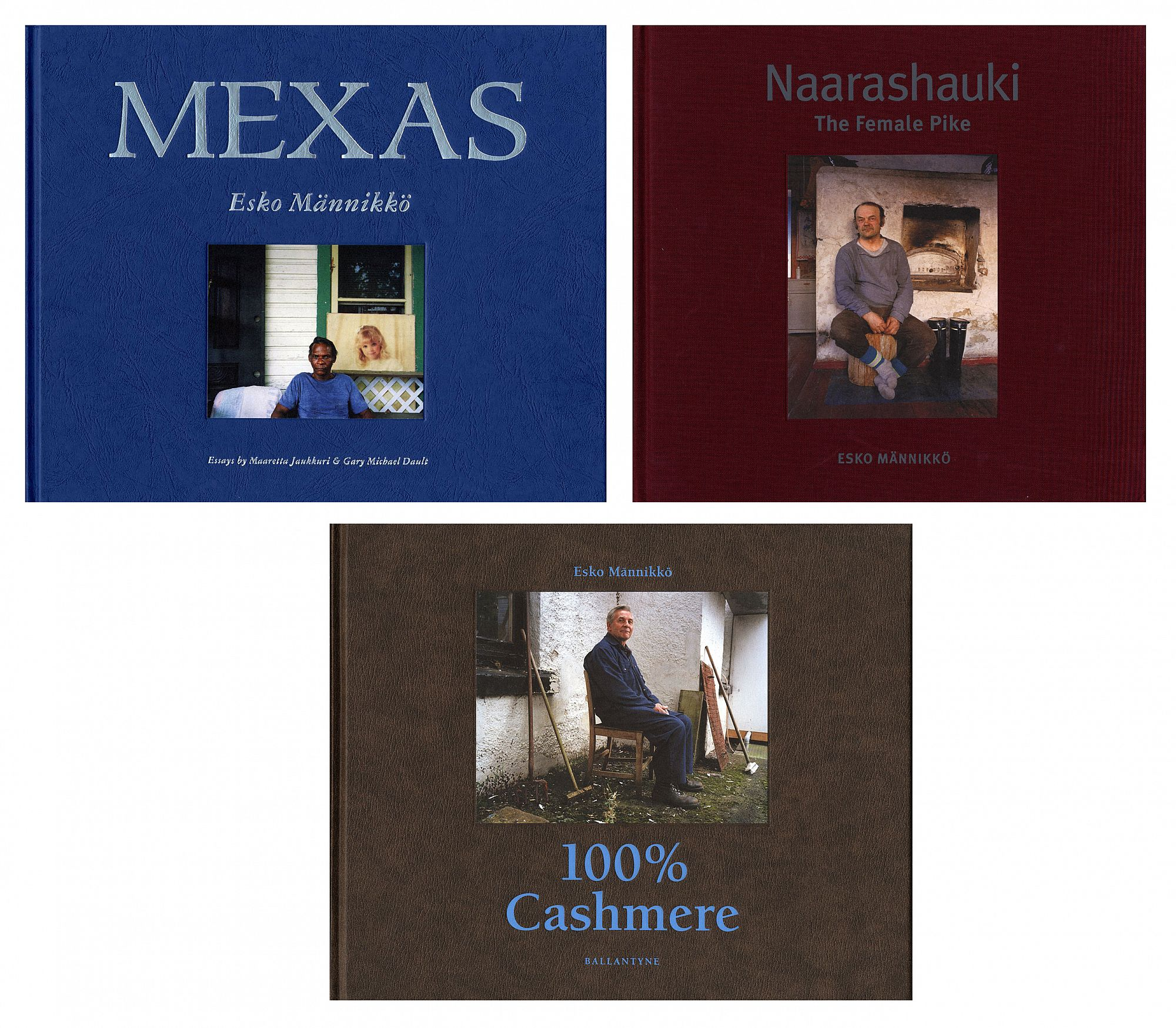 Esko Männikkö: Mexas, Naarashauki: The Female Pike & 100% Cashmere (All First Editions) [Each SIGNED]