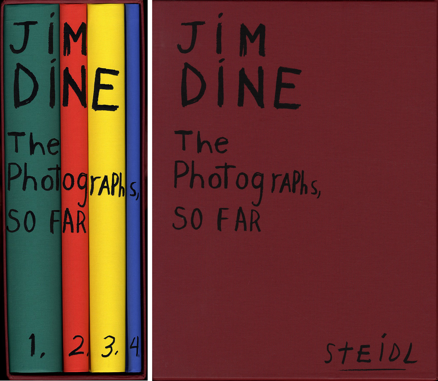 Jim Dine: The Photographs, So Far (Four Volume Set) [IMPERFECT Slipcase]