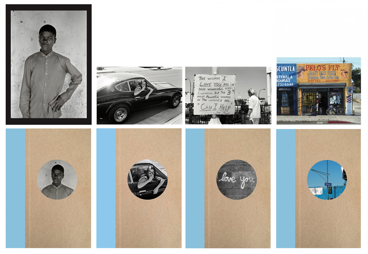 Nazraeli Press One Picture Book Two Series, Set 6: #21-24, Limited Edition(s) (with 4 Prints): Carrie Mae Weems: Africa: Gems and Jewels; Ed Templeton: Auto-Hypnosis; Deanna Templeton: Love You; John Humble: Pico Boulevard