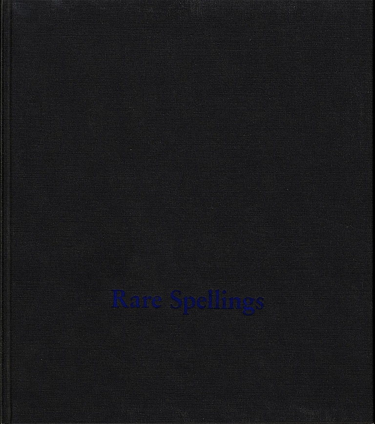 Roni Horn: Rare Spellings: Selected Drawings / Zeichnungen 1985-1992 [SIGNED