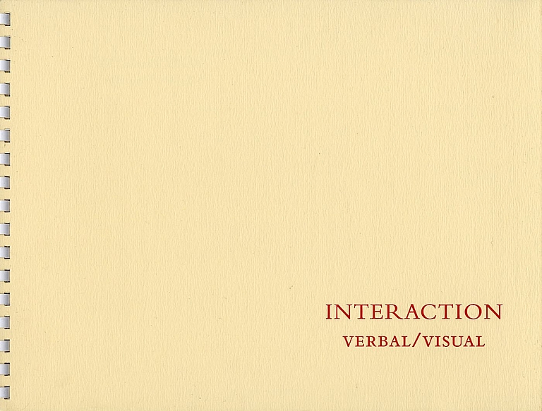 Carl Chiarenza: Interaction: Verbal/Visual, Limited Edition [SIGNED]