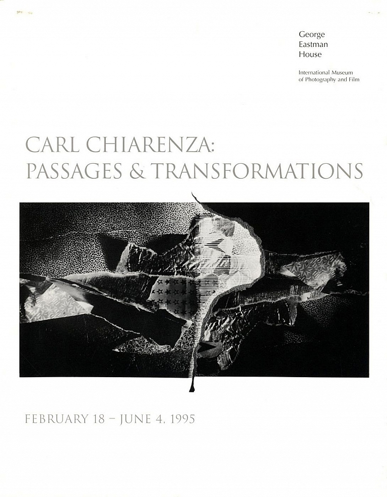 Carl Chiarenza: Passages and Transformations (Exhibition Brochure) [SIGNED ASSOCIATION COPY