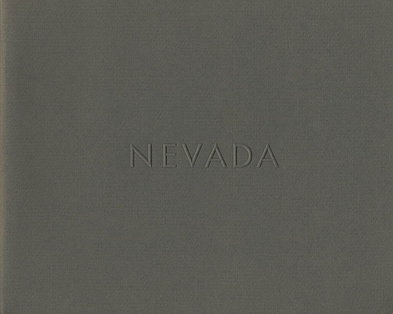 Lewis Baltz: Nevada (First Edition) [SIGNED (vintage signature