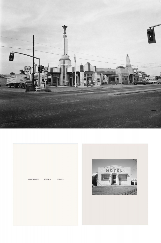 NZ Library #1: John Schott: Route 66, Special Limited Edition (with Gelatin Silver Contact Print...