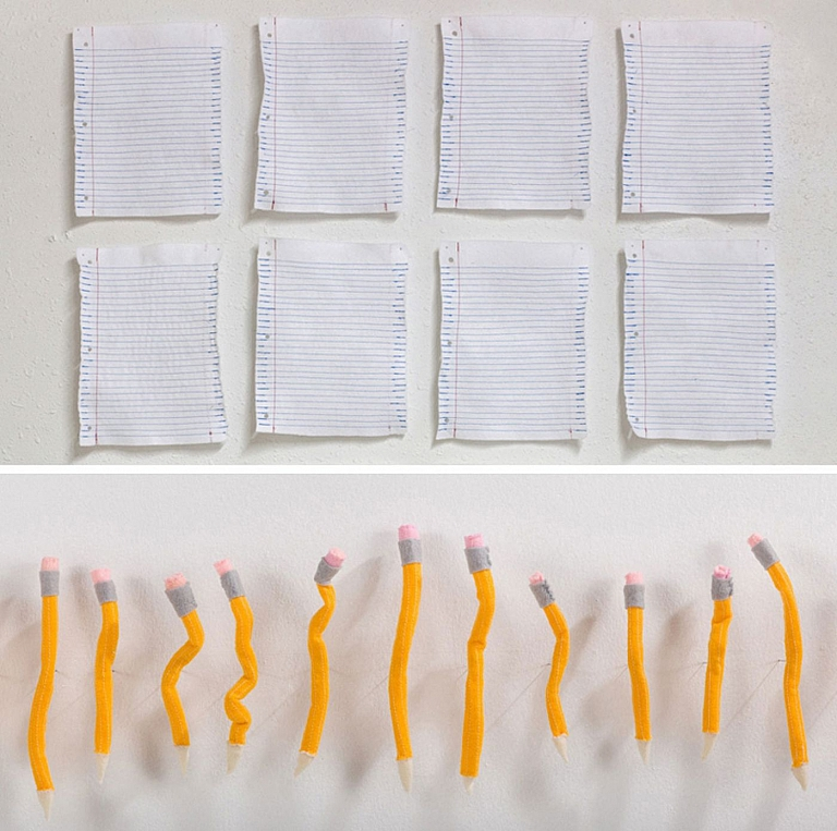 Tamara Wilson: Notebook Paper Study and Pencil Set (Felt and Thread), Limited Edition (Open