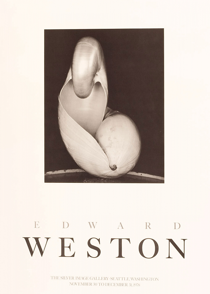 Edward Weston: Silver Image Gallery Exhibition Poster (Shell, 1927, 14S