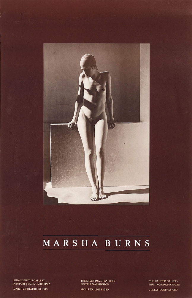 Marsha Burns: Exhibition Poster (Untitled, August 1978