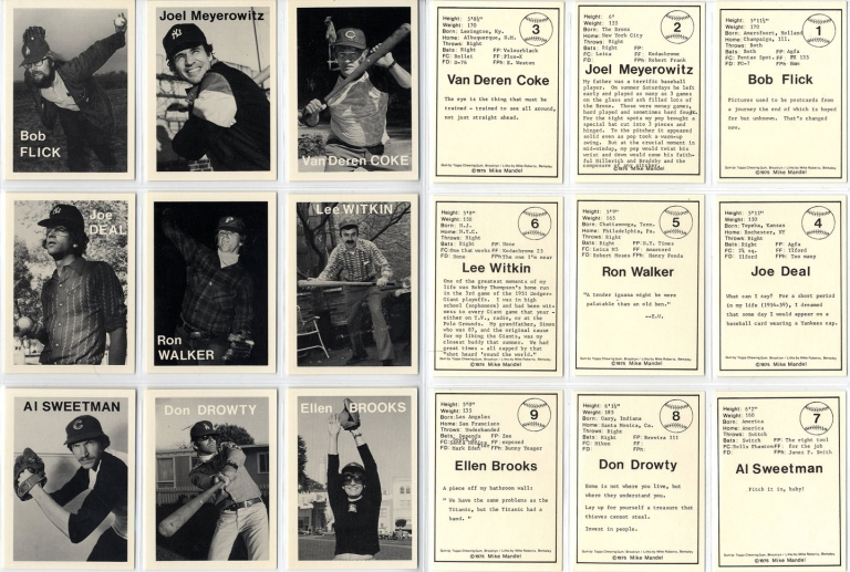 Mike Mandel: Untitled (Baseball-Photographer Trading Cards), Complete Set of 135 Cards